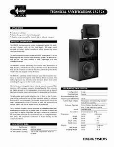 Cinema System Cb259x Manuals