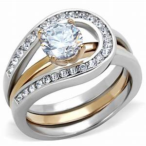 wedding sets two tone wedding sets for women With two toned wedding ring sets
