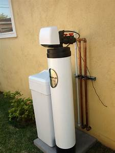 Clack Ws1 Water Softener And Loop Installed Outside