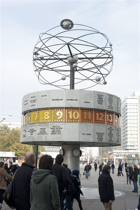 stock image  world time clock alexanderplatz