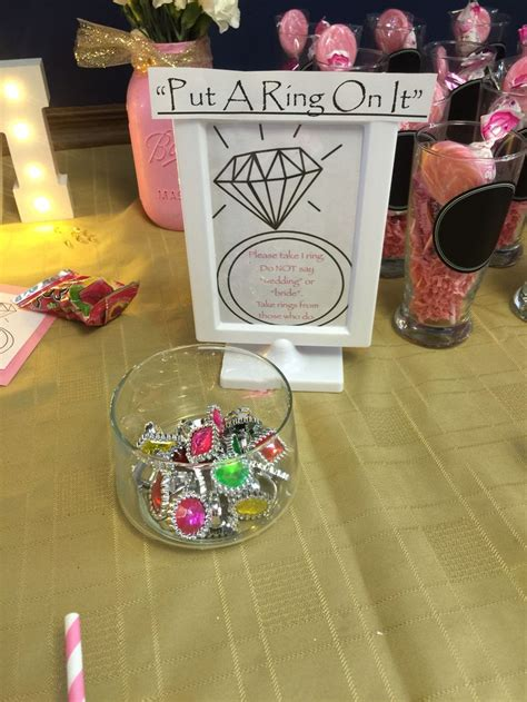 For A Bridal Shower by Quot Put A Ring On It Quot Bridal Shower Diy Bridal Shower