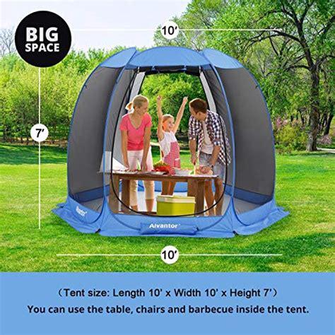 alvantor pop  breezy hexagonal screen house  mesh walls outdoor canopy tent sun shade shelter