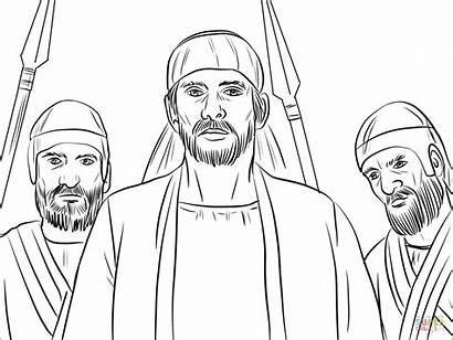Stephen Coloring False Pages Seized Testimony Stoning