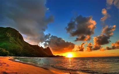 Summer Widescreen Sunset Clouds Hawaii Wallpapers Background