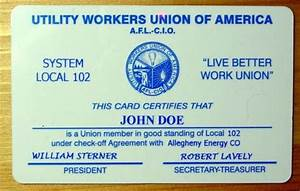 Fake Death Certificate Plastic Card Printing Plastic Card Workers Union Cards