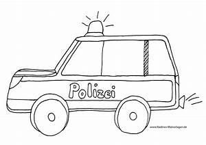 Polizeiauto Mit Blaulicht Ausmalbild Nadines Ausmalbilder