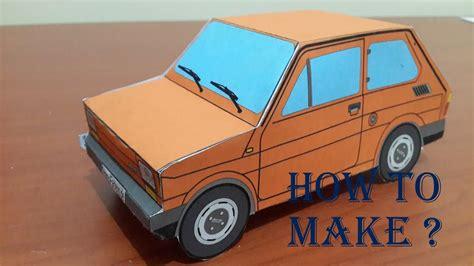 Paper Craft Fiat 126 Bis- How To Make A Paper Fiat 126