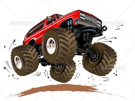 monster trucks races cartoon cartoon monster truck graphicriver