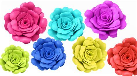 Como Hacer Flores Pequenas De Goma Eva Flores de Papel