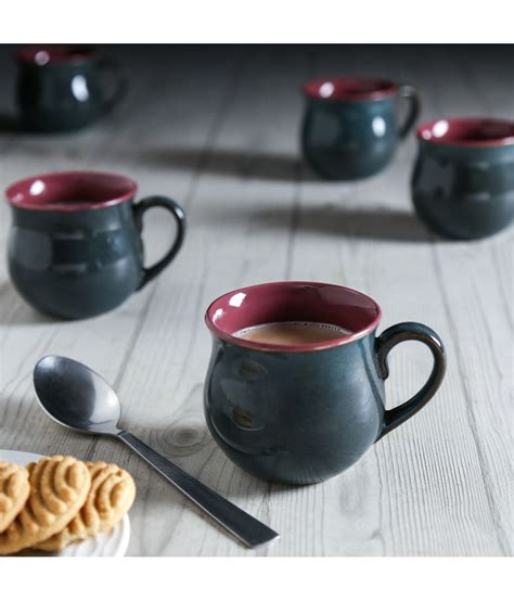 Today, the same cup averages around $2.15. Unravel India Stoneware Coffee Cup 6 Pcs 80 ml: Buy Online at Best Price in India - Snapdeal