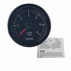 Dewhel Universal 52mm 2 U0026quot  Vision Black Diesel 6k Speed Rpm