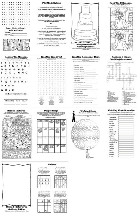 diy wedding activity book for kids free printables pinterest wedding activity books and