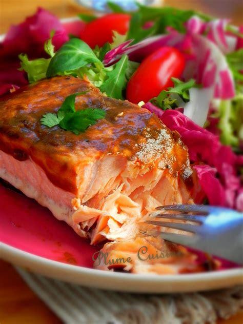 saumon au vinaigre balsamique une plume dans la cuisine