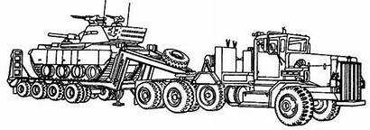 Semi Coloring Truck Pages Trailer Tractor Monster