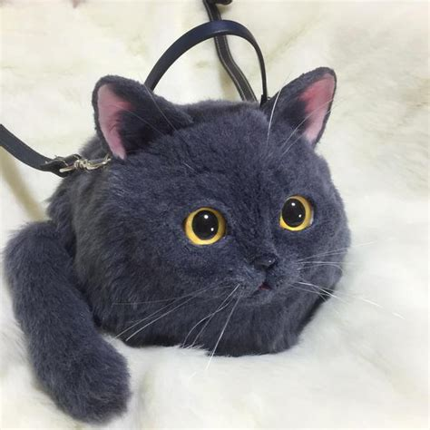 picos incredibly realistic cat handbags  purses