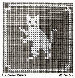 Sentimental Baby Filet Crochet Or Cross Stitch Animal Motifs