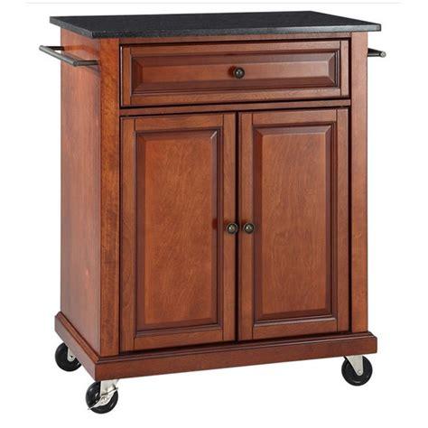 crosley furniture black granite top classic cherry kitchen