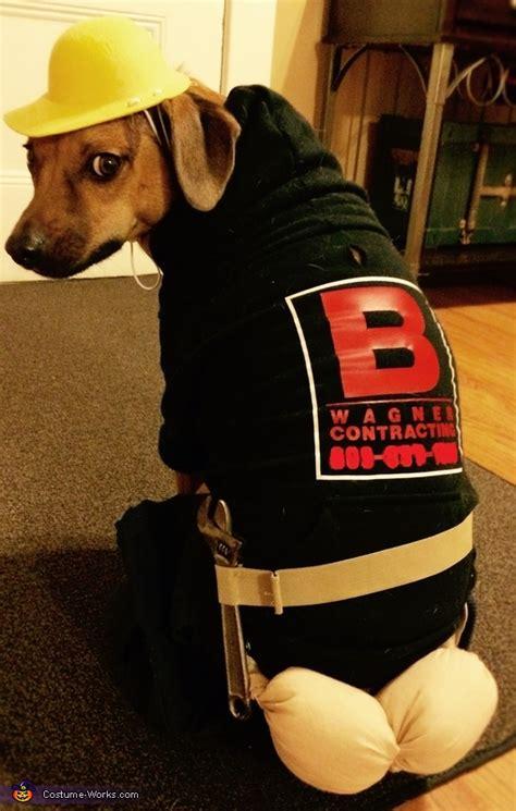 plumber butt crack dog costume