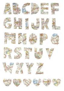 Free Printable Map Letters