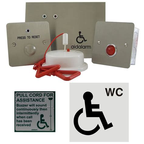 aidalarm disabled toilet alarm stainless kit safety