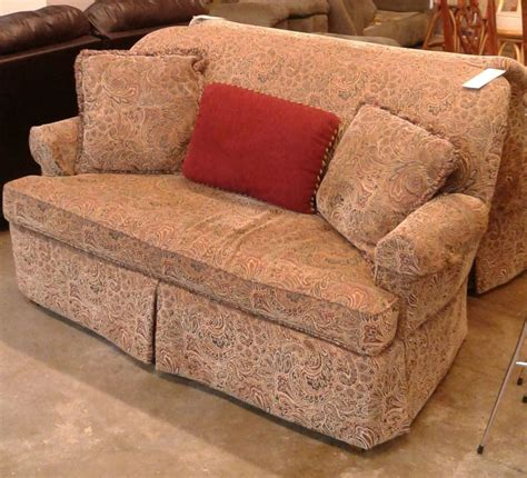 Paisley Settee by Paisley Settee W 3 Pillows Delmarva Furniture Consignment