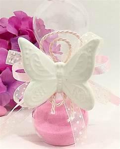 Bomboniera Clessidra Con Farfalla Sabbia Rosa Ad Emozioni