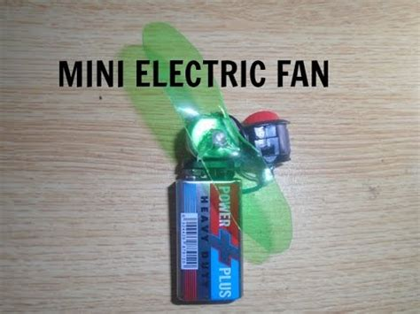 how to make a mini electric fan at home