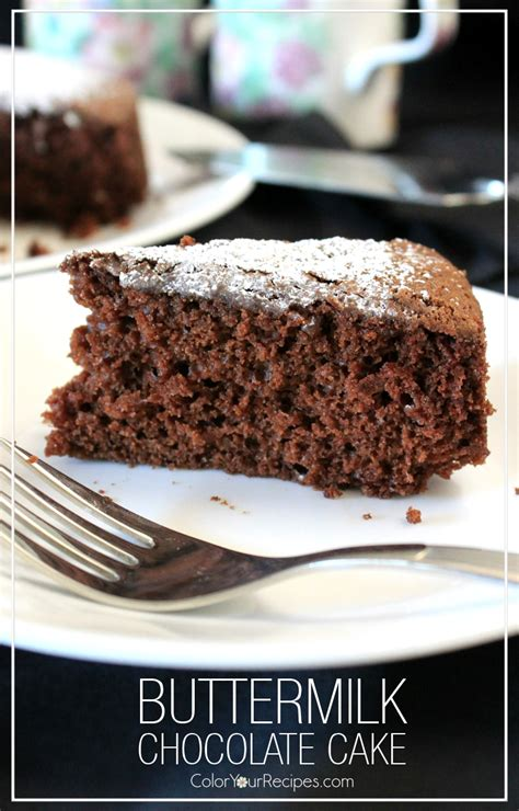 buttermilk chocolate cake recipe color  recipes