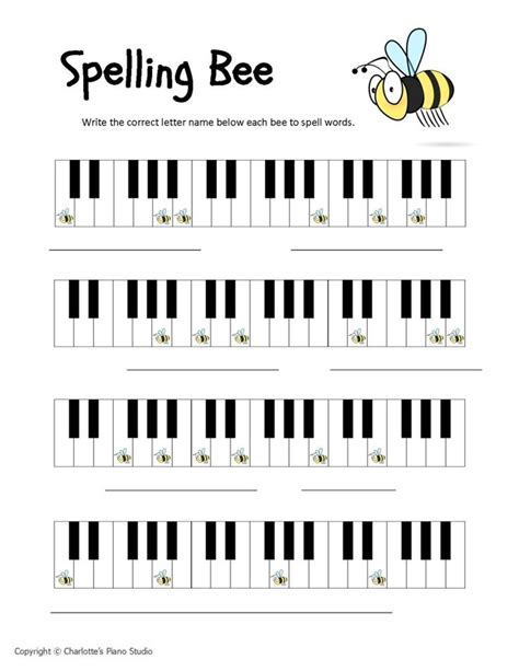 Piano Keyboard Notes Worksheets  Download Bass Clef Pdf  School  Pinterest  Spelling Bee