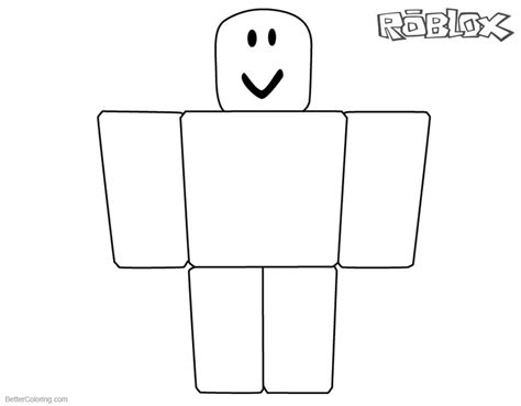 Kleurplaat Roblox Noob roblox noob coloring pages simple noob picture free