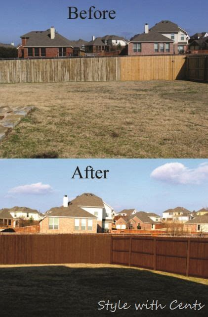 stain   worn  fence  dirt cheap