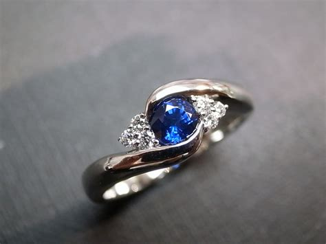 Diamonds Wedding Ring With Blue Sapphire In 14k White Gold. Large Gold Lockets. Find Jewellery. Bracelet Necklace. Small Men Watches