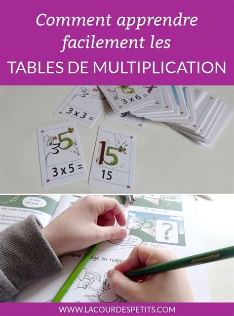 apprendre les tables de multiplication facilement la cour des petits