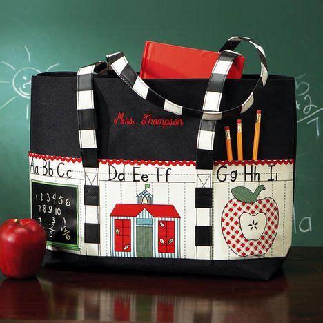 personalized teacher tote bag  lillian vernon