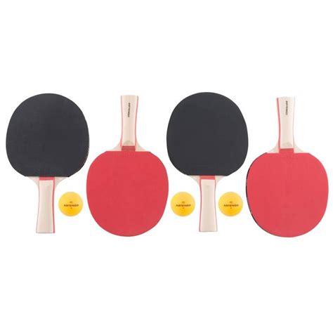 set 4 racchette ping pong 3 palline artengo ping pong ping pong decathlon