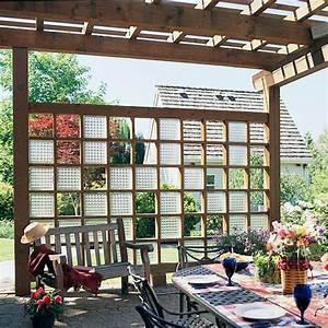 Fenster Aus Glasbausteinen : sichtschutz im garten holz konstruktionen und sichtschutzz une ~ Sanjose-hotels-ca.com Haus und Dekorationen