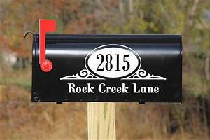 mailbox decal home pinterest With mailbox lettering decals