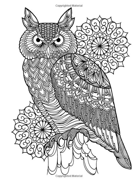 265 best Owl Coloring Pages for Adults images on Pinterest