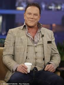 Mickey Rourke has make-up malfunction on Tonight Show with ...