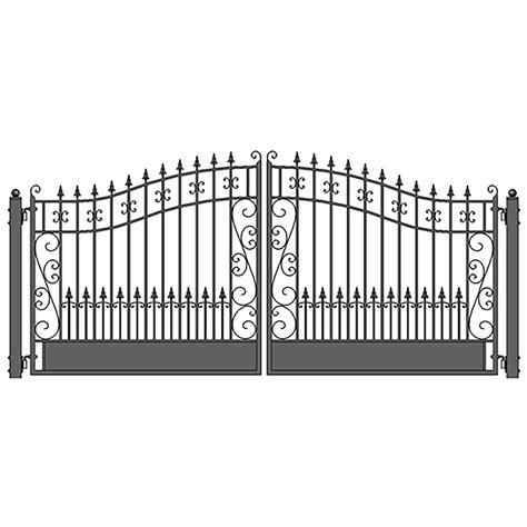 steel dual swing driveway gate venice style    ft aleko