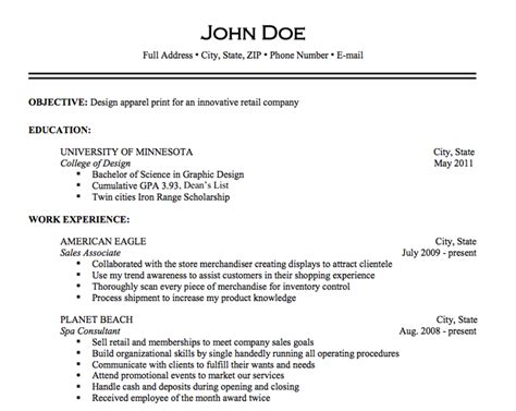 what resume looks like what should a resume look like