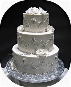 silver wedding cake stand silver and white wedding cake grace tari flickr
