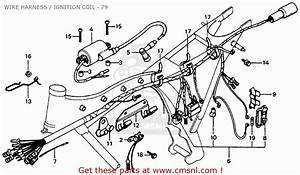 Honda Cb125s 1979  Z  Usa Wire Harness    Ignition Coil