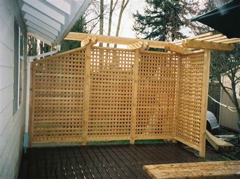 outdoor outdoor privacy screen ideas deck with pergola