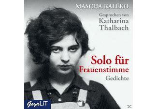 Mascha Kalèko Mascha Kalèko | Solo Für Frauenstimme ...