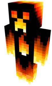 Skin Minecraft Fire Creeper