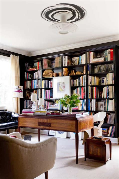 Hton Home Design Ideas by 28 Dreamy Home Offices With Libraries For Creative Inspiration