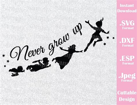 disney inspired peter pan quote  grow  neverland
