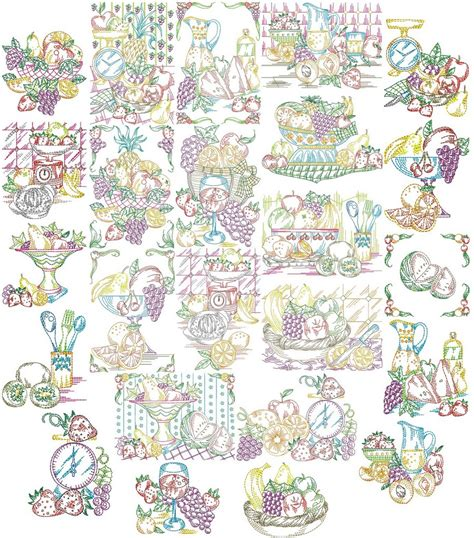 kitchen embroidery designs free fresh fruit for the kitchen machine embroidery designs 4740