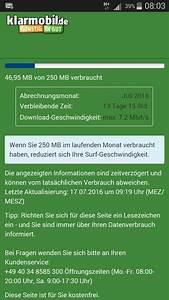 Klarmobil Rechnung Abfragen : datenvolumen abfragen bzw anzeigen bei telekom vodafone o2 und co ~ Themetempest.com Abrechnung
